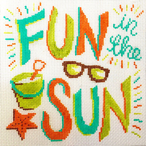 click here to view larger image of Fun In The Sun (hand painted canvases)