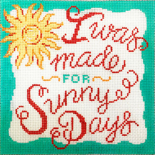 click here to view larger image of I Was Made For Sunny Days (hand painted canvases)