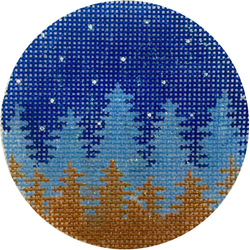 click here to view larger image of Faded Night Trees Ornament (hand painted canvases)