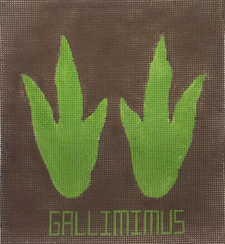 click here to view larger image of Gallimimus Feet (hand painted canvases)