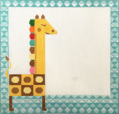 click here to view larger image of Giraffe and Geometric (hand painted canvases)
