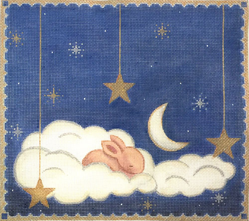 click here to view larger image of Sleeping Bunny (hand painted canvases)