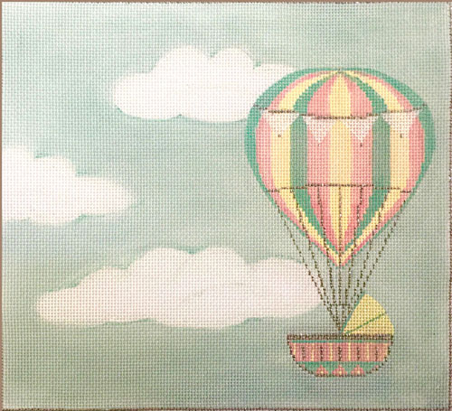 click here to view larger image of Hot Air Balloon Birth Announcement (hand painted canvases)