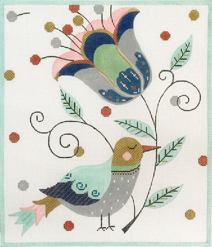 click here to view larger image of Patchwork Bird (hand painted canvases)