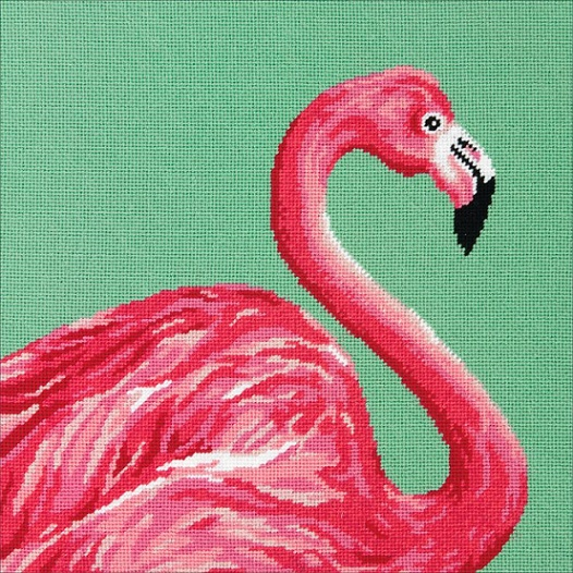 click here to view larger image of Pink Flamingo (needlepoint kits)