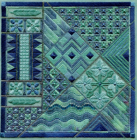 click here to view larger image of Lahaina Breezes (Includes Beads) (counted canvas work)