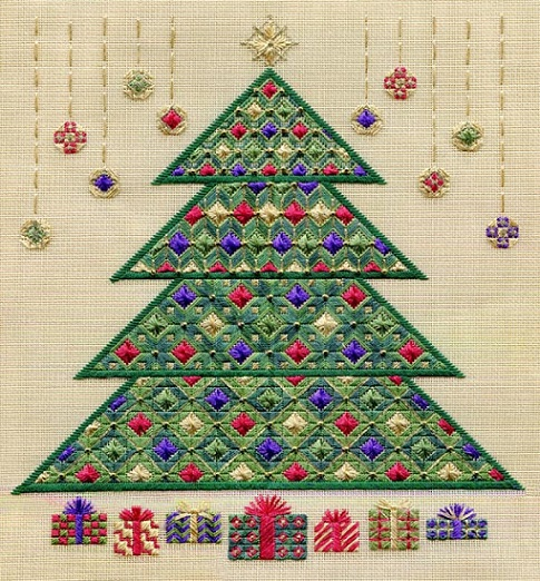 Christmas Tree 2011 (Includes Beads) counted canvas work