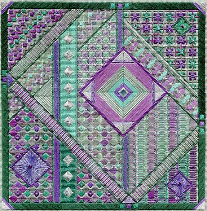 click here to view larger image of Fluorite Fantasy (Includes Embellishments) (counted canvas work)