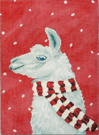 click here to view larger image of Llama With Scarf (hand painted canvases)