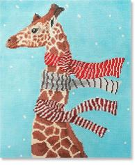 click here to view larger image of Giraffe With Scarves (hand painted canvases)