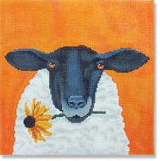 click here to view larger image of Sheep With Daisy (hand painted canvases)