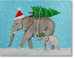 click here to view larger image of Elephants Bringing Home The Tree (hand painted canvases)