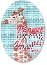 click here to view larger image of Giraffe With Scarves Ornament (hand painted canvases)