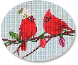 click here to view larger image of Two Cardinals (hand painted canvases)
