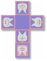 click here to view larger image of Tooth Fairy Box - Pink (hand painted canvases)