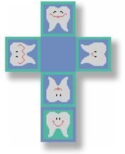 click here to view larger image of Tooth Fairy Box - Blue (hand painted canvases)