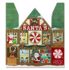 click here to view larger image of Santas Workshop (hand painted canvases)