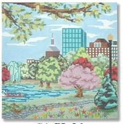 click here to view larger image of Boston Public Garden (hand painted canvases)