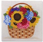 click here to view larger image of Basket Of Flowers (hand painted canvases)