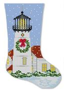 click here to view larger image of Chatham Lighthouse Mini Stocking (hand painted canvases)