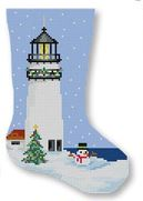 click here to view larger image of Highland Lighthouse Mini Stocking (hand painted canvases)
