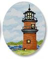 click here to view larger image of Gayhead Lighthouse Ornament (hand painted canvases)