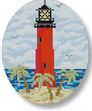 click here to view larger image of Jupiter Inlet Lighthouse Ornament (hand painted canvases)