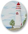 click here to view larger image of Lake Erie Lighthouse Ornament (hand painted canvases)