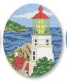 click here to view larger image of Hecta Head Lighthouse Ornament (hand painted canvases)
