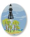 click here to view larger image of Hillsboro Lighthouse Ornament (hand painted canvases)