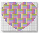 click here to view larger image of Heart Stash Bag Ornament - Light Multi (hand painted canvases)