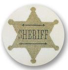 click here to view larger image of Sheriff Badge Ornament (hand painted canvases)
