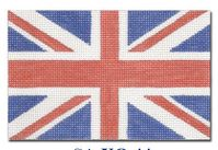 click here to view larger image of English Flag Ornament (hand painted canvases)
