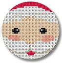 click here to view larger image of Santa Face Ornament (hand painted canvases)