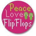 click here to view larger image of Flip Flops Ornament (hand painted canvases)