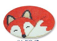 click here to view larger image of Sleeping Fox Ornament (hand painted canvases)