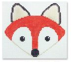 click here to view larger image of Fox Face Ornament (hand painted canvases)