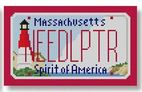 click here to view larger image of Mini License Plate - Massachusetts (hand painted canvases)