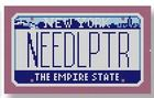 click here to view larger image of Mini License Plate - New York (hand painted canvases)