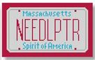 click here to view larger image of Mini License Plate - Massachusetts 2 (hand painted canvases)