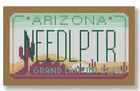 click here to view larger image of Mini License Plate - Arizona (hand painted canvases)