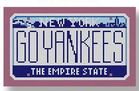 click here to view larger image of Mini License Plate - Go Yankees - New York (hand painted canvases)