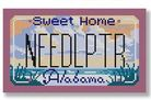 click here to view larger image of Mini License Plate - Alabama (hand painted canvases)