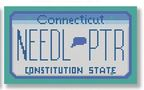 click here to view larger image of Mini License Plate - Connecticut (hand painted canvases)