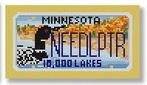 click here to view larger image of Mini License Plate - Minnesota (hand painted canvases)