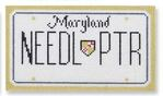 click here to view larger image of Mini License Plate - Maryland (hand painted canvases)
