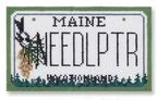 click here to view larger image of Mini License Plate - Maine (hand painted canvases)