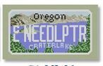 click here to view larger image of Mini License Plate - Oregon (hand painted canvases)