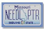 click here to view larger image of Mini License Plate - Missouri (hand painted canvases)