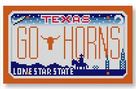 click here to view larger image of Mini License Plate - Go Horns - Texas (hand painted canvases)